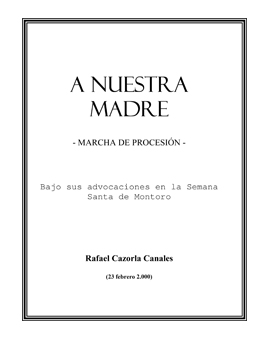 A Nuestra Madre